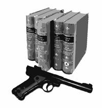books and gun